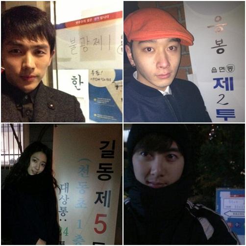 今日は韓国の選挙日!アイドルも投票に