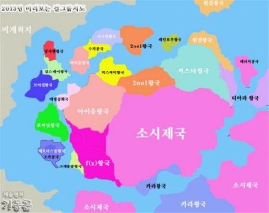 2013年韓国ガールズグループ地図