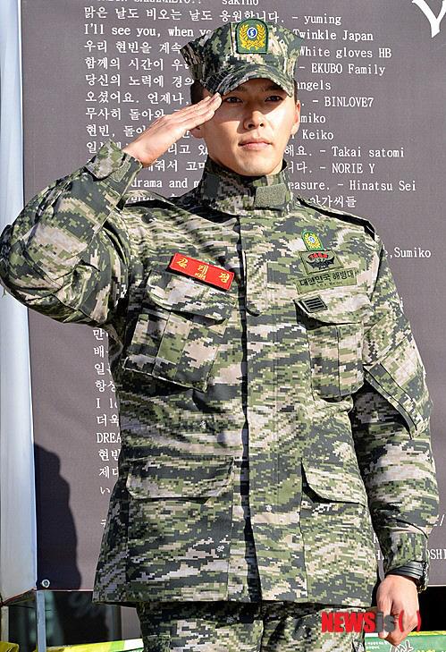韓国の女性が待っていたヒョンビンさんが除隊!