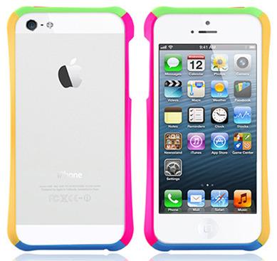様々な色のiPhone5バンパーケース