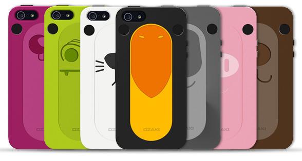 スタンド機能もついたかわいい動物iPhone5ケース!