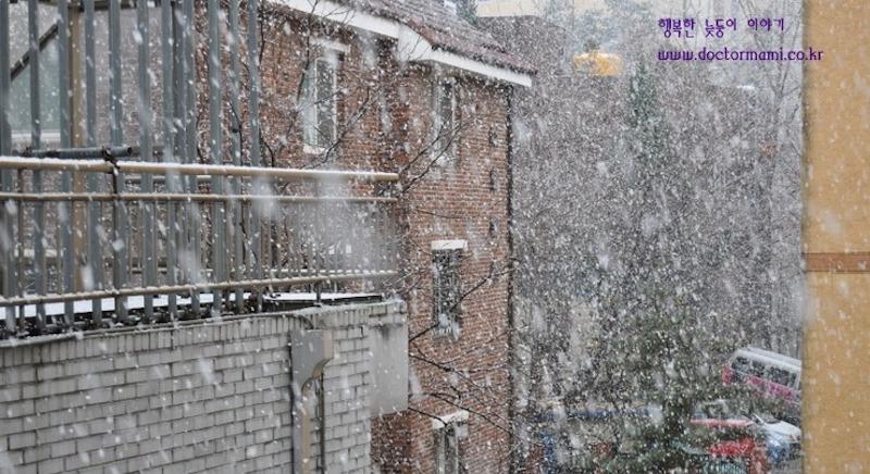韓国語講座(雪が降る〜♪)