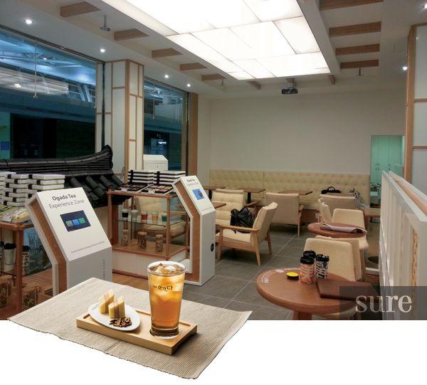 現代的な店内で韓国伝統茶が楽しめるカフェ