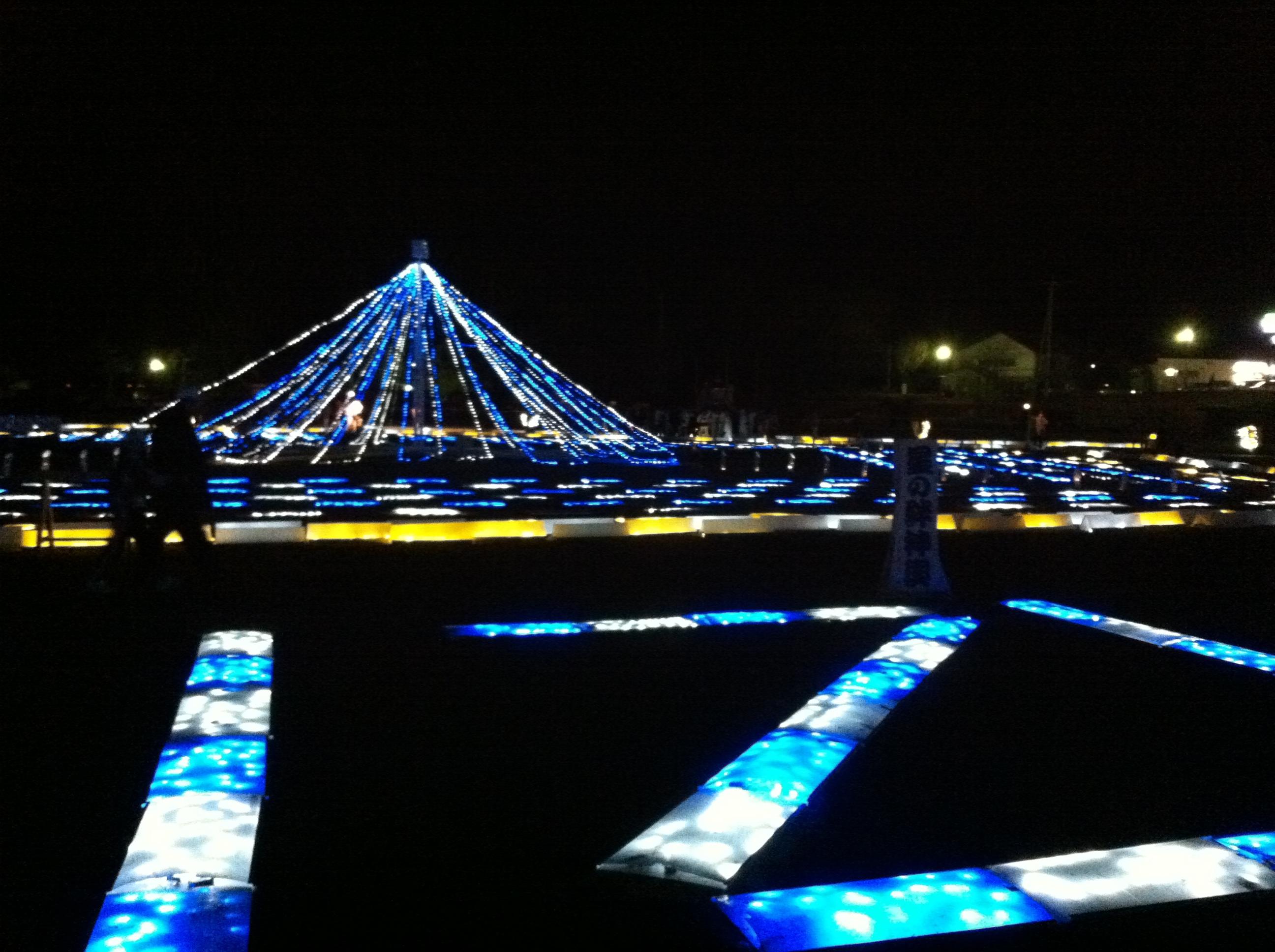 今年、沼田公園のイルミネーション