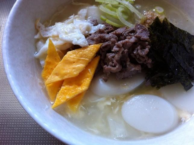 韓国のお雑煮『トック』食べました!