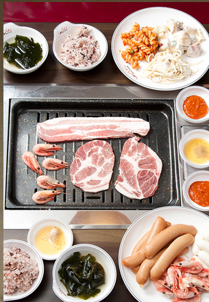 韓国の焼肉食べ放題のお店