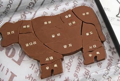 牛一頭がチョコレートに!