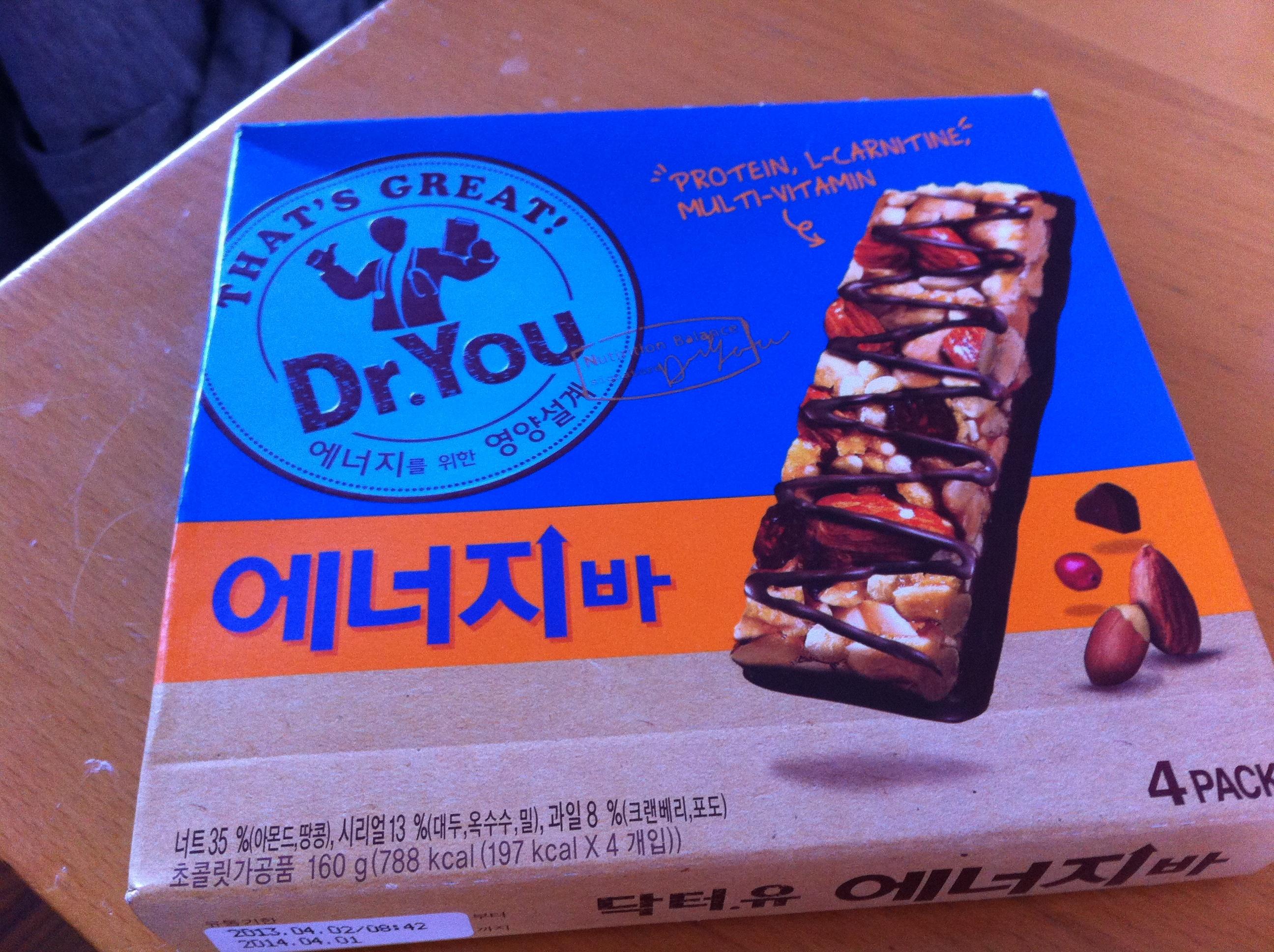 韓国のお菓子『Dr.Youエネルギーバー』