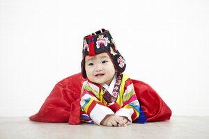 最近韓国で子供韓服が再ブーム